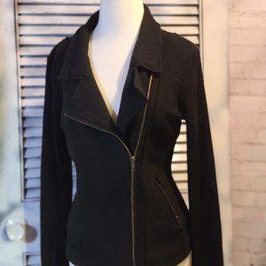 Savile Row Co. Med Wool Moto Sweater Jacket